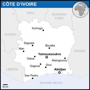 Ivory Coast Map 2