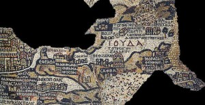 Madaba Map, showing location of the tomb of Zechariah?