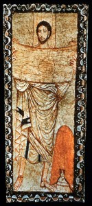 man (Moses?) reading from scroll, Dura Europos synagogue, third cent. CE