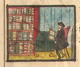 Illustration from a manuscript haggadah from Klau Library, HUC-JIR