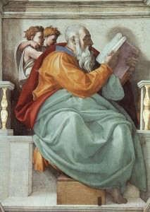 Michelangelo, The Prophet Zechariah, Sistine Chapel