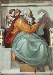 Michelangelo, The Prophet Zechariah, Sistine Chapel