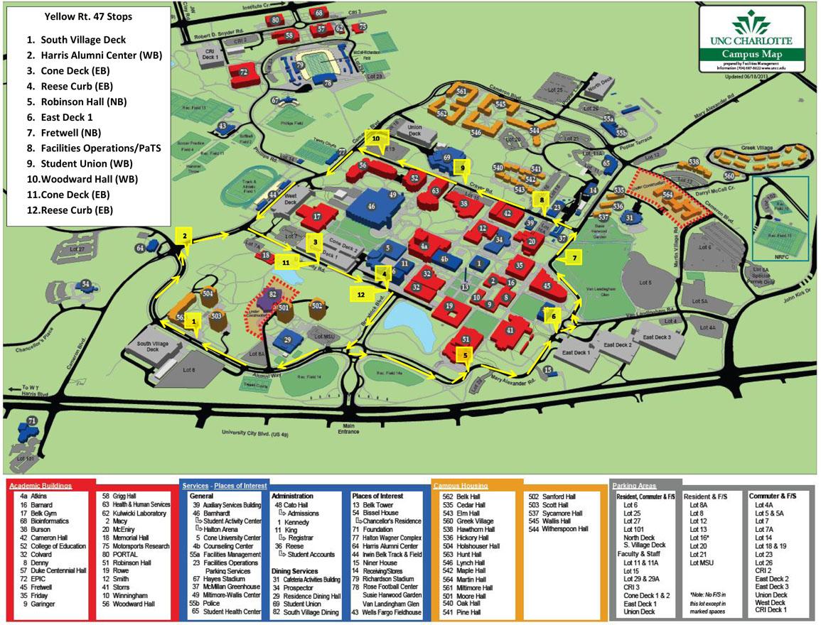 Uncc Parking Map CHAKRABARTI LAB | CONTACT US Uncc Parking Map