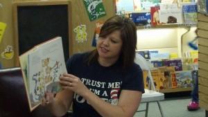 Dr. Sarah Minslow reading at Seussathon 2014