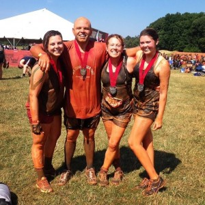 me and my babies Warrior Dash 2015