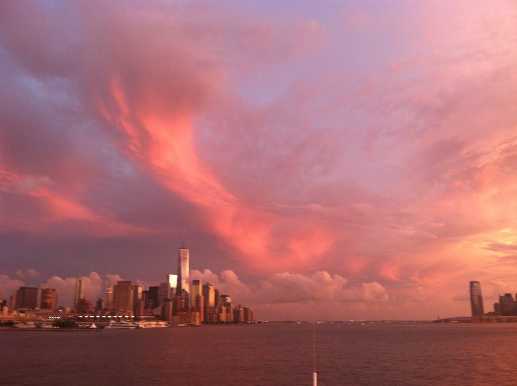 NYC at sunset on EPIC cruise