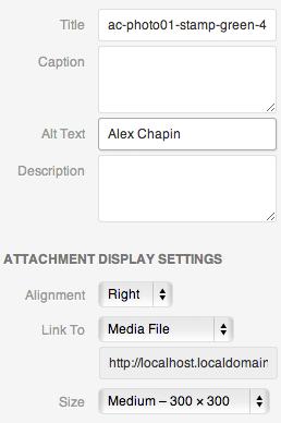 image attributes